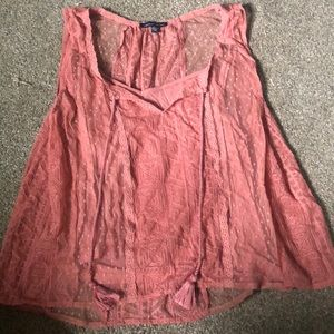 american eagle lace tank top